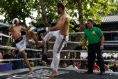 Prison fight, muay thai competition — Foto Stock