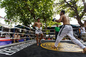 Prison fight, muay thai competition — 图库照片