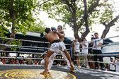 Prison fight, muay thai competition — Stock Photo
