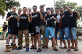 Fighters after the prison fight, muay thai competition — Stock Photo