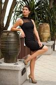 Russian model posing on Thai resort — Stock Photo
