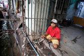 Street Life in Yangon city — Stock Photo