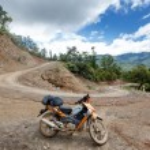 Motorbike on Road in Myanmar — Stock Photo #78488638