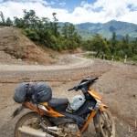 Motorbike on Road in Myanmar — Stock Photo #78488676