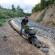 Local Man with motorbike in Myanmar — Stock Photo #78488824