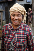 Local Woman in Myanmar — Stock Photo