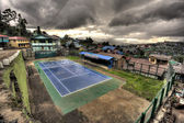 Tennis Courts in Myanmar — Stock Photo