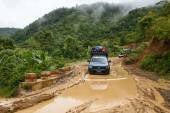Extreme Driving Through Myanmar — Stock Photo