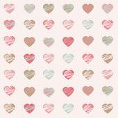 Pastel Hearts Pattern — Stock Photo