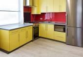 Yellow kitchen — Stock Photo