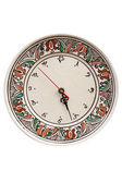 Traditional romanian pottery clock — Stock Photo