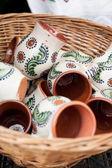 Traditional romanian pottery — Stock Photo