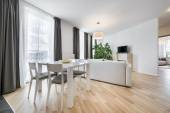 Wide view of living room in scandinavian style — Stock Photo