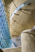 Futuristic hall in Museum of History of Polish Jews in Warsaw — Stock Photo