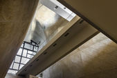 Futuristic vault in Museum of History of Polish Jews in Warsaw — Stock Photo
