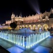 Fountain and Cloth hall in Krakow, Poland — Stock Photo #54759505
