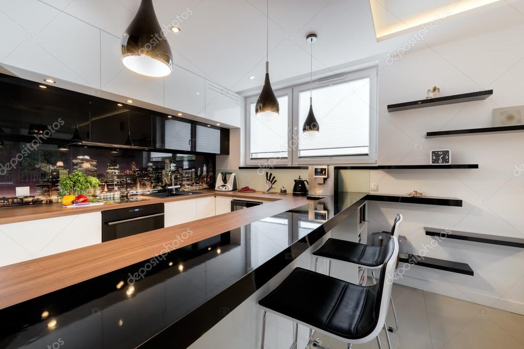 Moderne open ruimte luxe keuken — stockfoto © jacek kadaj #55147293