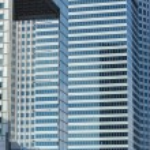 Modern urban architecture in Warsaw — Stock Photo #56499803