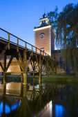 Tower of Krasicki Bishop castle in Lidzbark Warminski, — Stock Photo