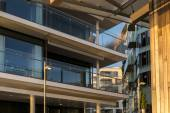 Detail of modern architecture in Aker Brygge, Oslo — Stock Photo