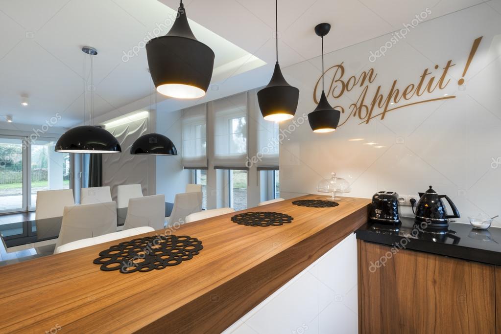 Moderno diseño de interiores sala comedor — foto de stock ...