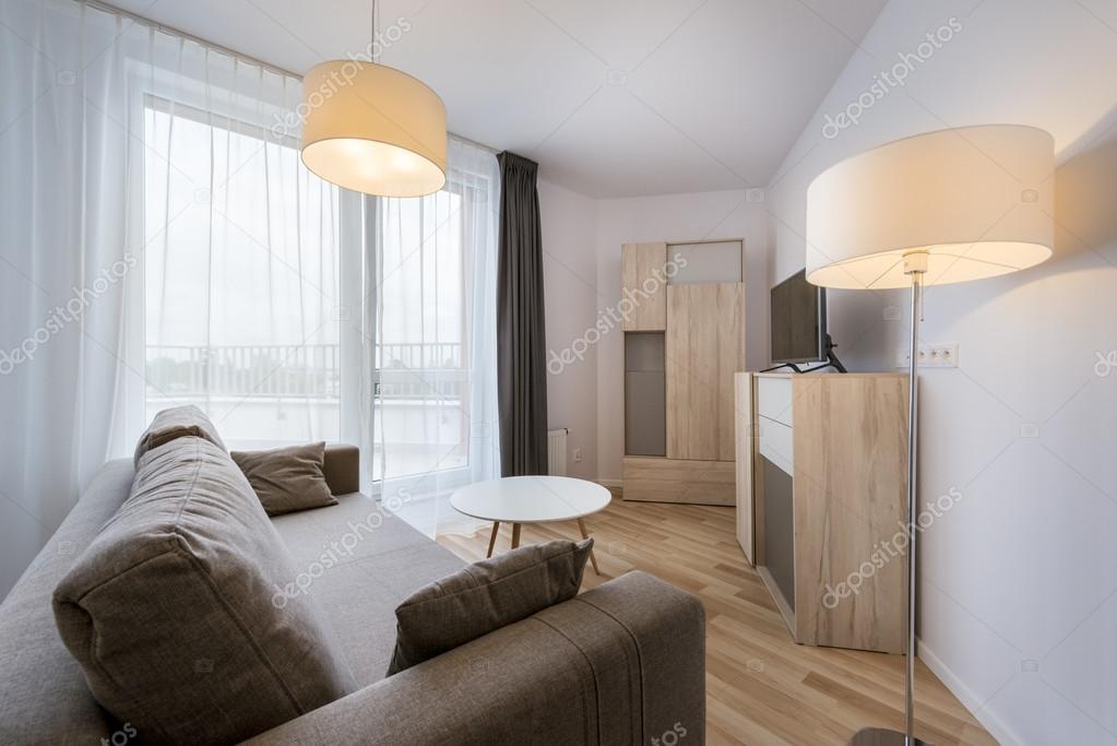 ... moderne woonkamer appartement interieur design — Stockbeeld