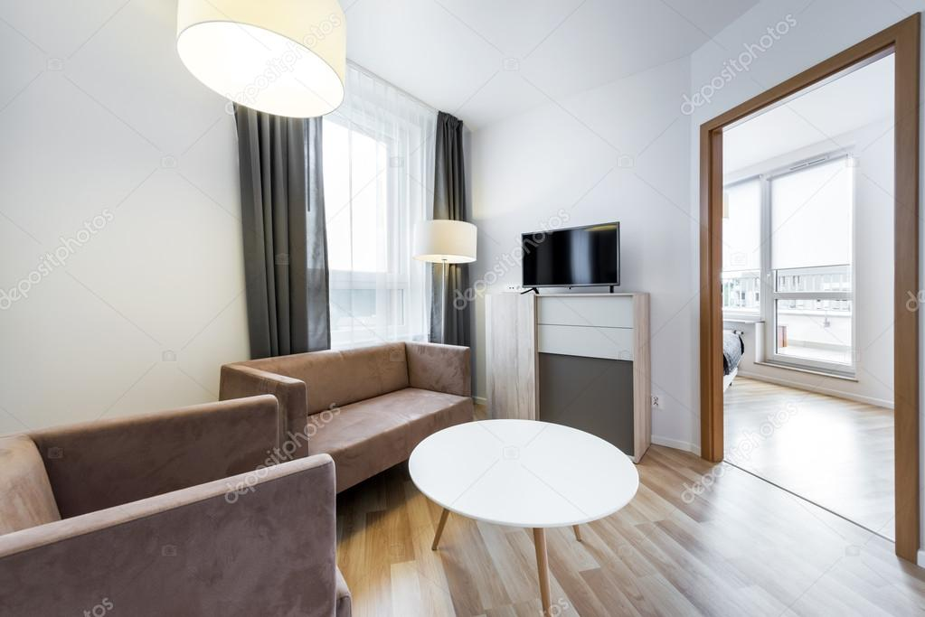 Modern interieur weids uitzicht van woonkamer stockfoto for Interieur woonkamer modern
