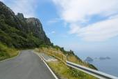 Cliff road in Galicia — Stock Photo