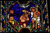 Baptism of Jesus by Saint John — Zdjęcie stockowe