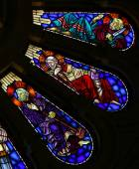 Saint Bartholomew, Saint James the Lesser and Saint Thadeus — Stock Photo