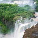 Iguazu falls on the border of Argentina and Brazil — Stock Photo #64542707