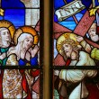 Stained Glass - Jesus meets Mary on the Way of the Cross — Stock Photo #64543731