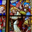 Stained Glass - Jesus meets Mary on the Way of the Cross — Stock Photo #64543789
