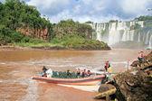 Iguazu falls on the border of Argentina and Brazil — 图库照片
