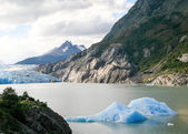 Glacier in Torres del Paine National Park in Patagonia, Chile — Stock Photo