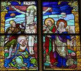İsa Çarmıhta - lekeli cam - iyi Cuma — Stok fotoğraf