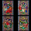 Scenes in the Life of Moses - Stained Glass in Dom of Cologne — Stock Photo #65356251