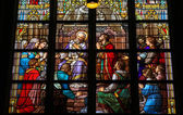 Stained Glass of The Sacrament of Confession in Den Bosch Cathed — Stock Photo