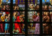 Stained Glass of Saint Wilibrord in Den Bosch Cathedral — Stock Photo