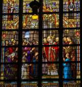 Stained Glass of the Confirmation in Den Bosch Cathedral — Stock Photo