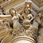 Statues at the Santa Croce baroque church in Lecce — Stock Photo #69489963