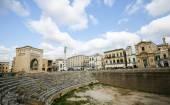 Roman Amphiteatre (2nd Century) in Lecce, Apulia, Italy — Stock Photo