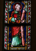 Saint Andrew - Stained Glass in Sint Truiden Cathedral — Stock Photo
