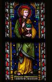Saint John the Evangelist - Stained Glass — Stock Photo