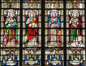 Stained Glass depicting the Four Evangelists — Zdjęcie stockowe
