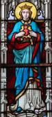 Gebrandschilderd glas - moeder Maria — Stockfoto