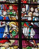 Målat glas - Saint Catherine — Stockfoto