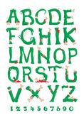 Zombie font vector — Stock Vector