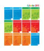 Calendar 2015 vector — Stock Vector