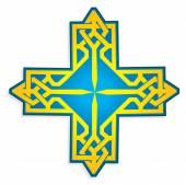 Ukrainian cross vector  — Vetorial Stock